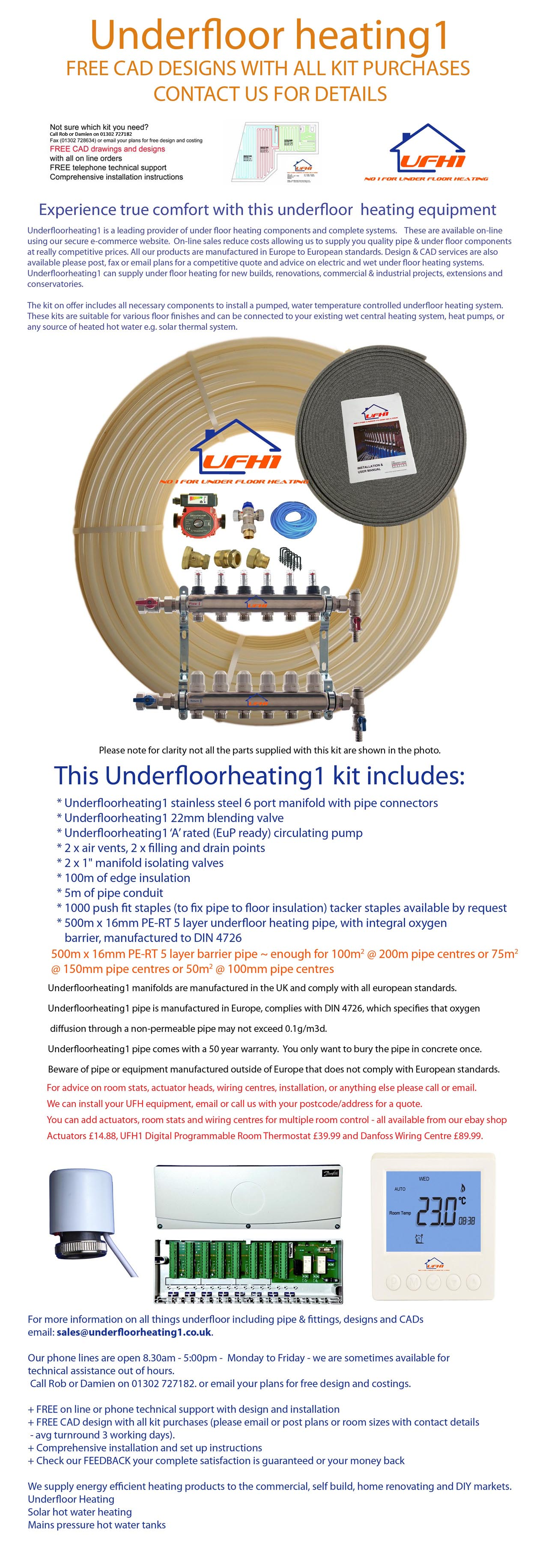Latest technology for efficient underfloor heating custom for Most efficient home heating method