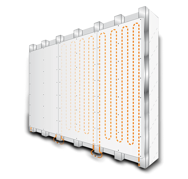 Modular wall heating panels with high heat output