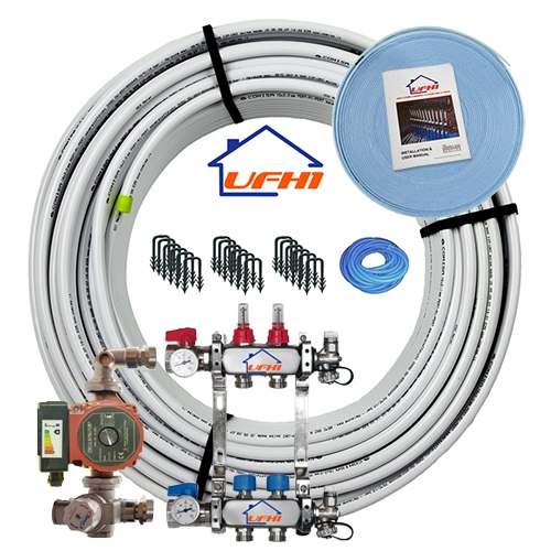 Premium Underfloor Heating Kit - 2 Port, 200m Kit (up to 40m²)