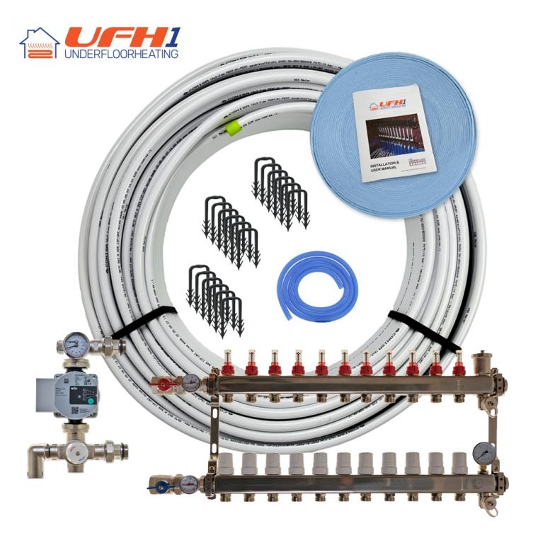 Premium Plus Underfloor Heating Kit - 11 Port, 1100m Kit (up to 220m²)