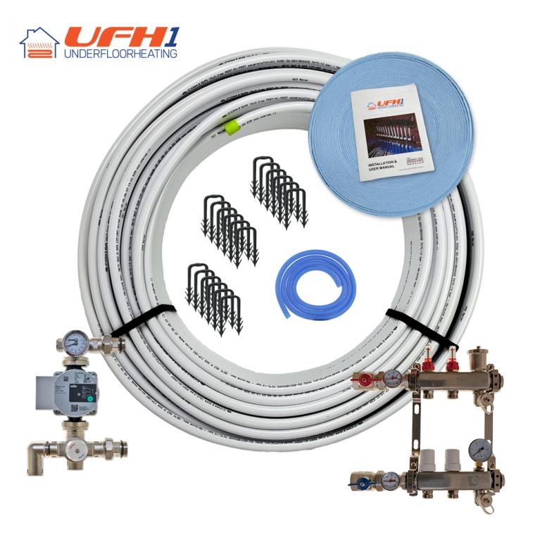 Premium Plus Underfloor Heating Kit - 2 Port, 200m Kit (up to 40m²)