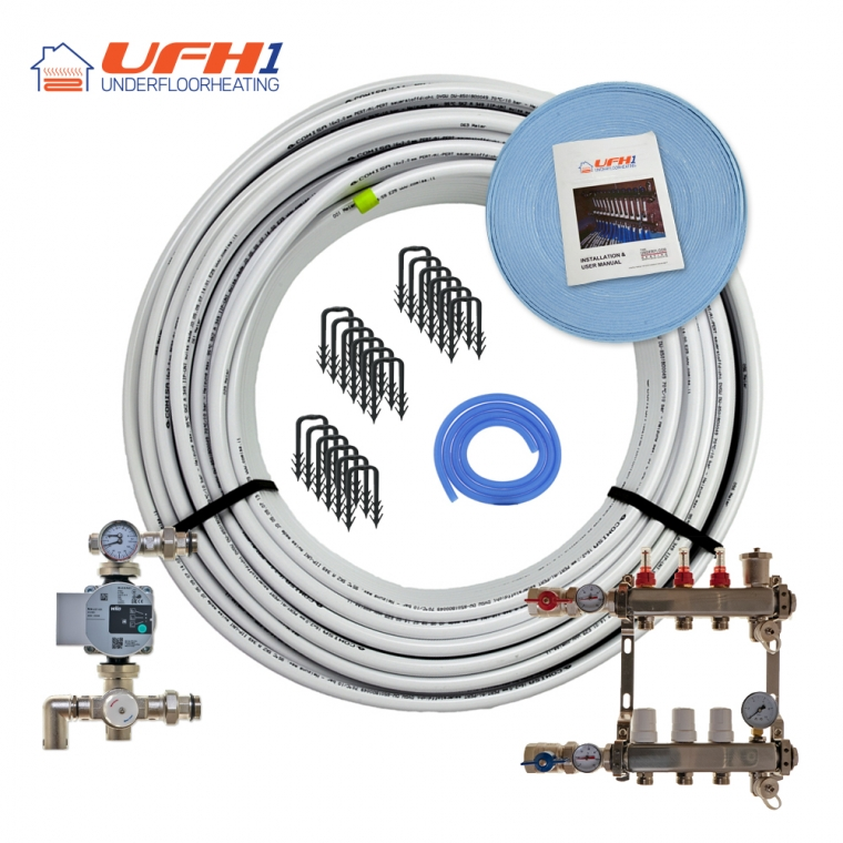 Premium Plus Underfloor Heating Kit - 3 Port, 300m Kit (up to 60m²)