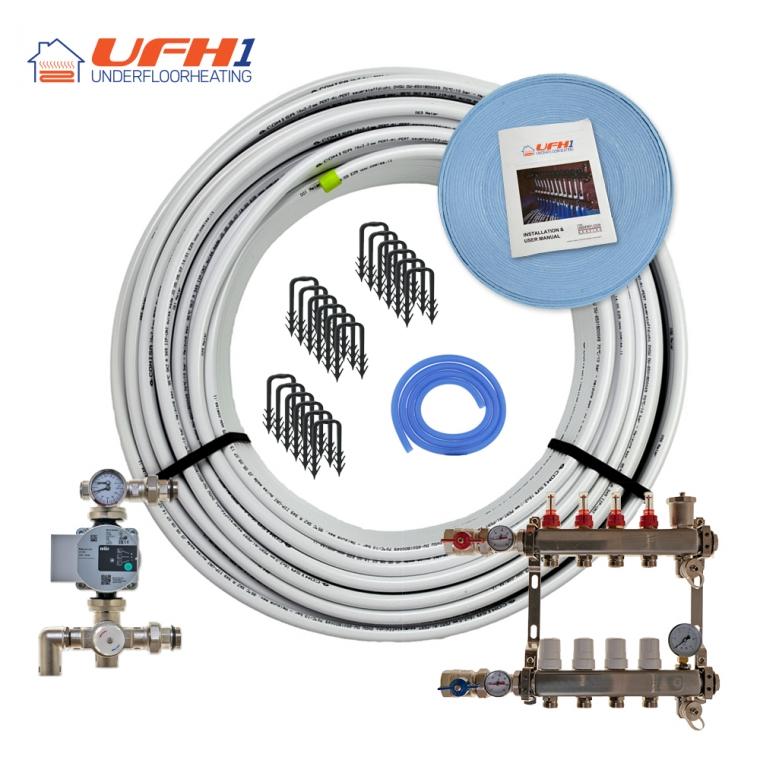 Premium Plus Underfloor Heating Kit - 4 Port, 400m Kit (up to 80m²)
