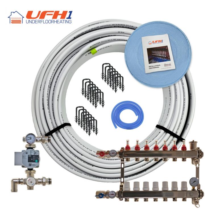 Premium Plus Underfloor Heating Kit - 7 Port, 700m Kit (up to 140m²)