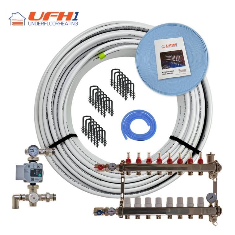 Premium Plus Underfloor Heating Kit - 8 Port, 800m Kit (up to 160m²)