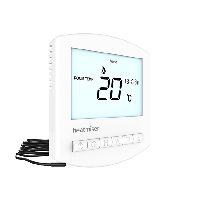 Programmable Electric Floor Heating Thermostat - Heatmiser Slimline-e