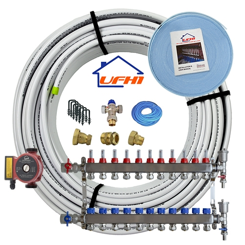 Standard Underfloor Heating Kit - 11 Port, 1100m Kit (up to 220m²)