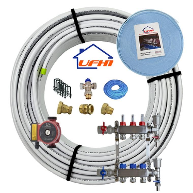 Standard Underfloor Heating Kit - 3 Port, 300m Kit (up to 60m²)