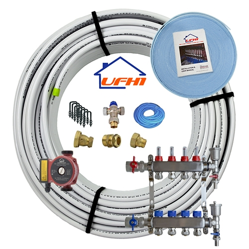 Standard Underfloor Heating Kit - 4 Port, 400m Kit (up to 80m²)
