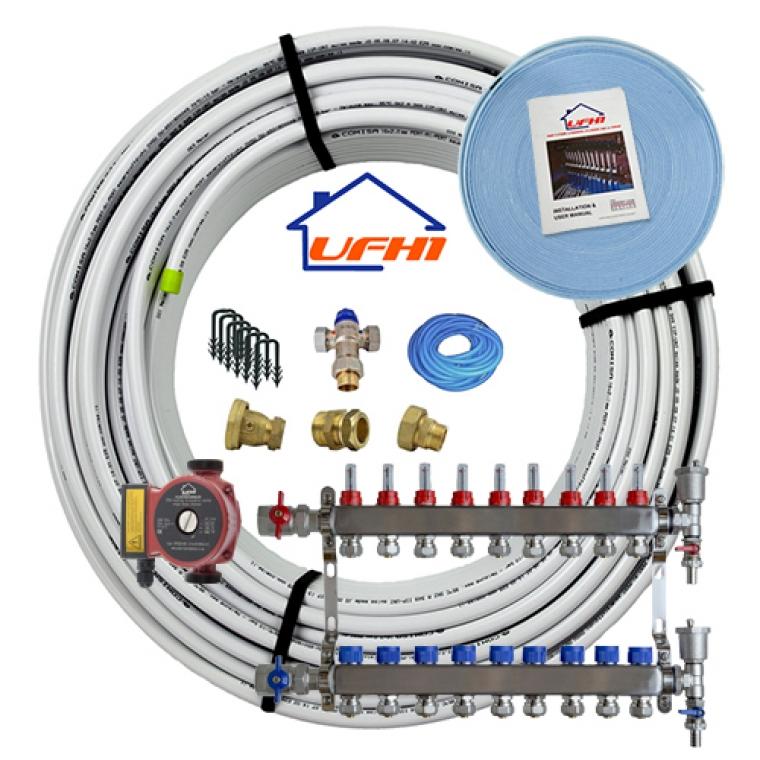 Standard Underfloor Heating Kit - 9 Port, 900m Kit (up to 180m²)