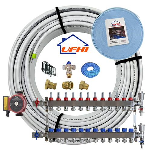 Standard Underfloor Heating Kit 12 Port 1200m Kit Up