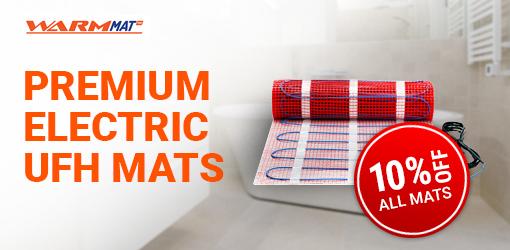 Premium Electric<br>Underfloor Heating Mats